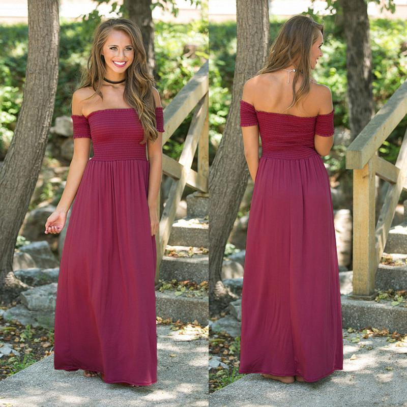 Sexy Off Shoulder Long Dress For Women