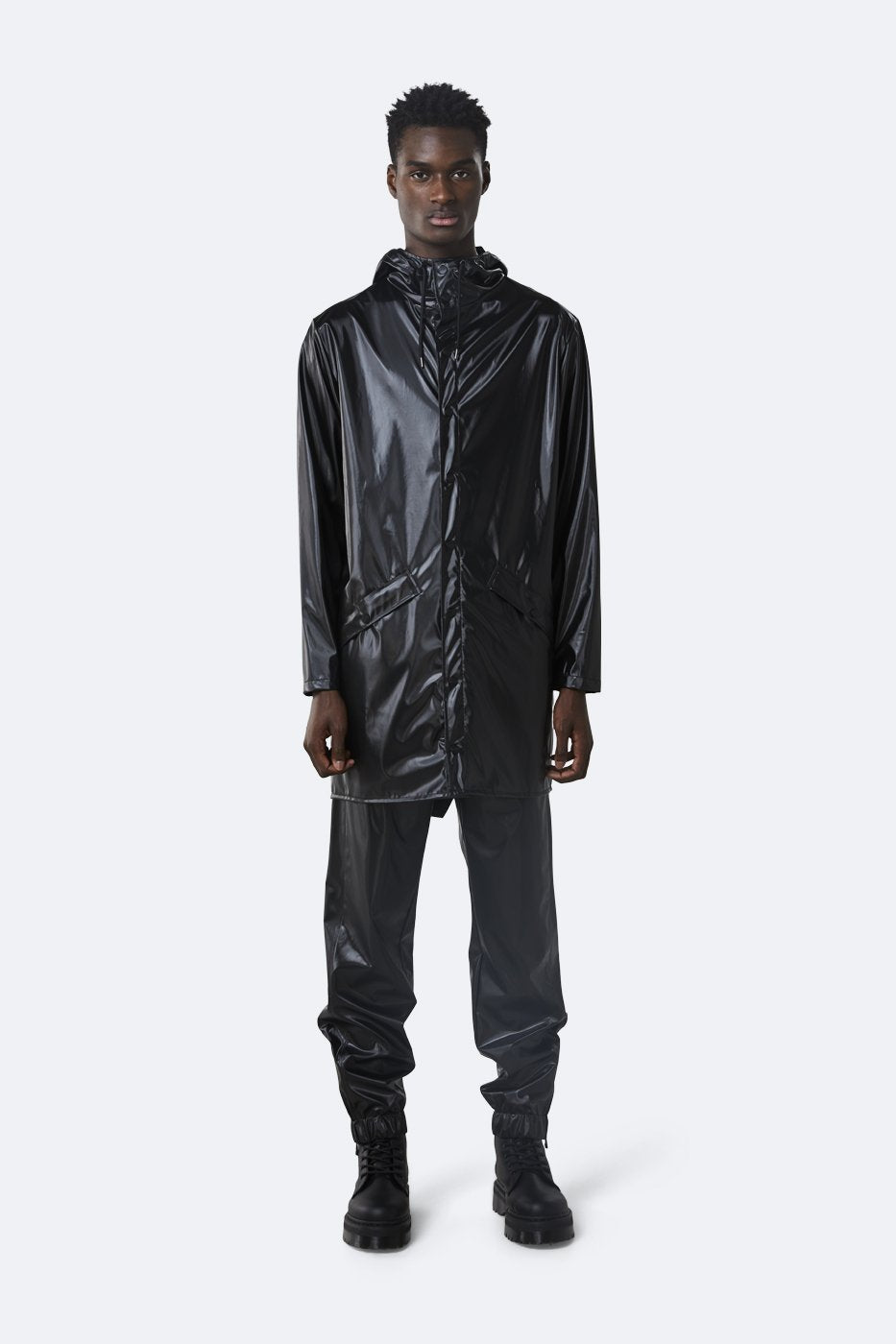Rains - Jacket Shiny Black
