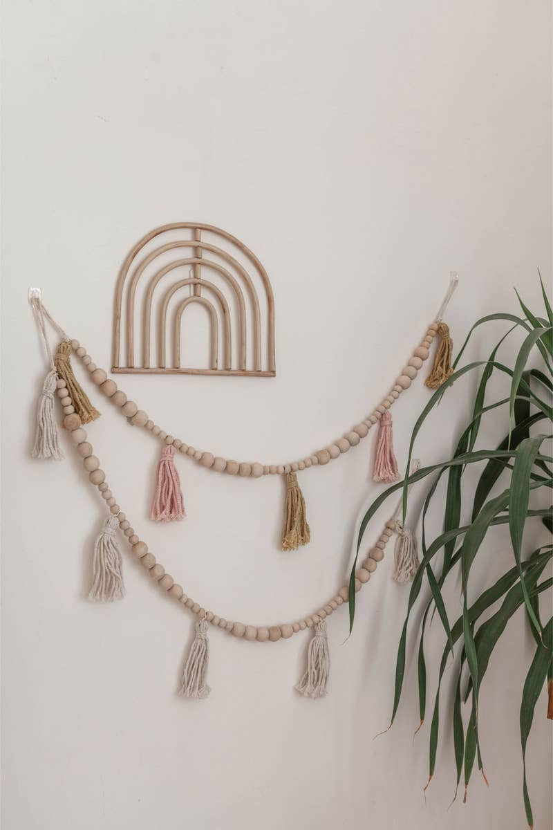 Rainbow Rattan Wall Decor