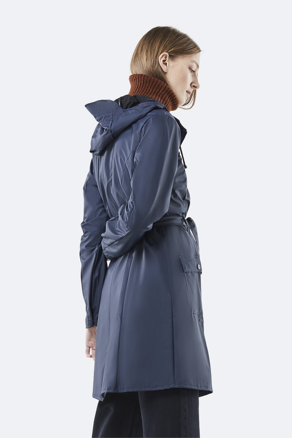 Rains - Curve Jacket Blue