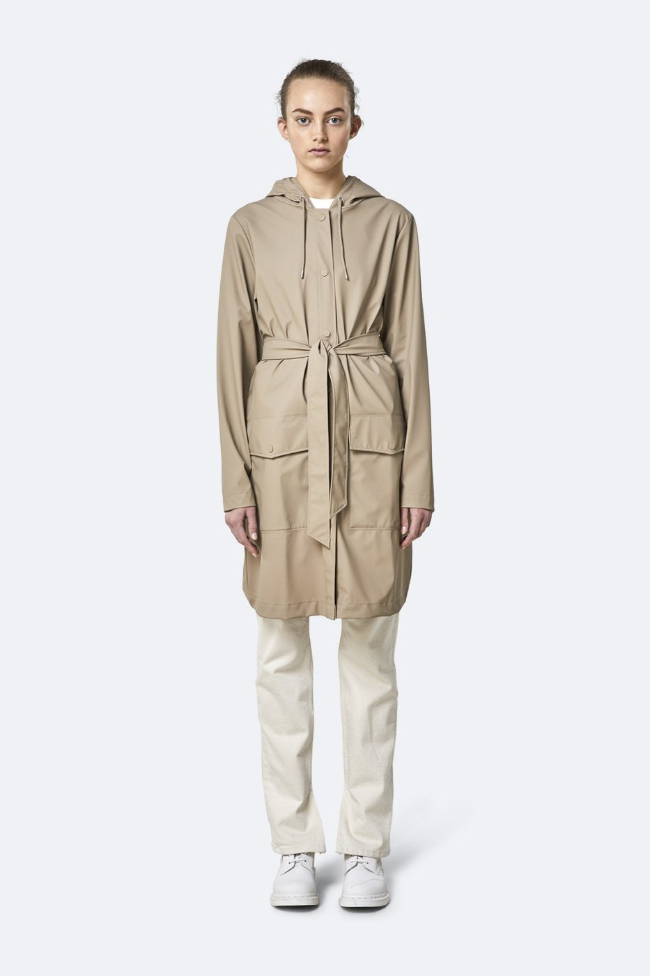 Rains - Belt Jacket Beige