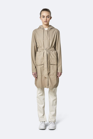 Rains - Long Jacket Beige