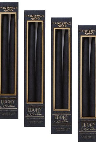 Black Taper Candle 2/pk