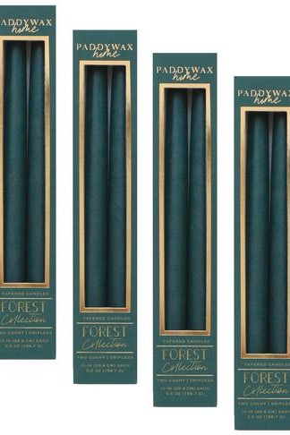Hunter Green Taper Candle 2/pk