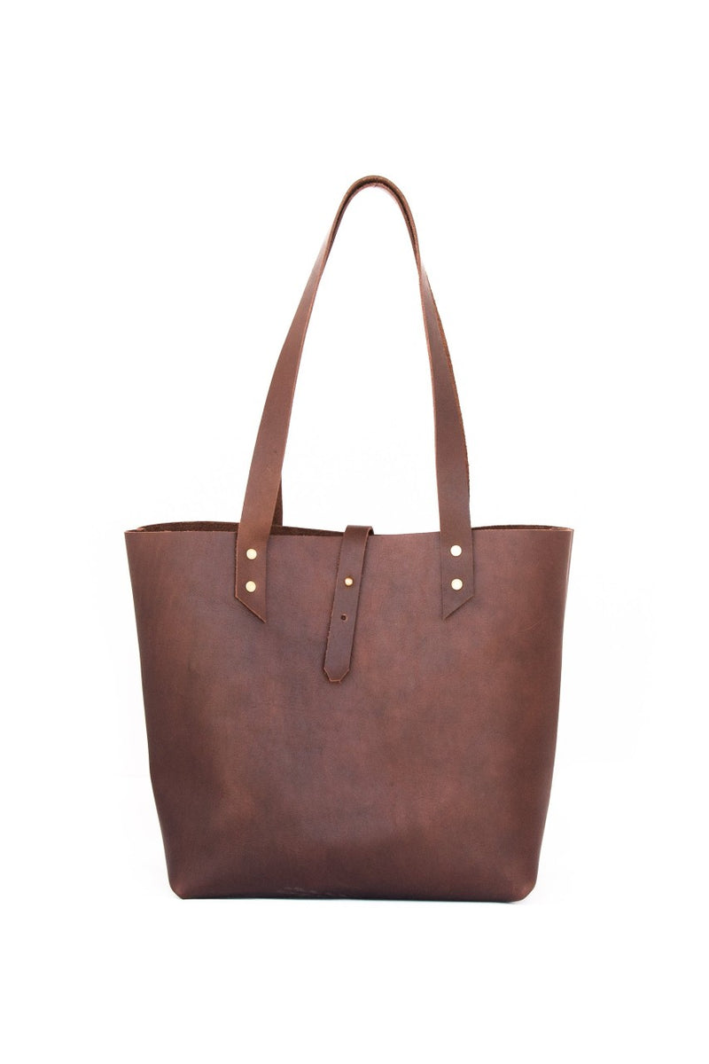 Market Canvas Leather - Tote Bag Brown