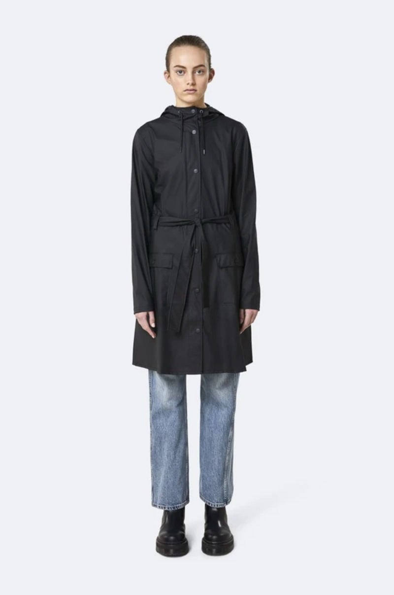 Rains - Belt Jacket Black