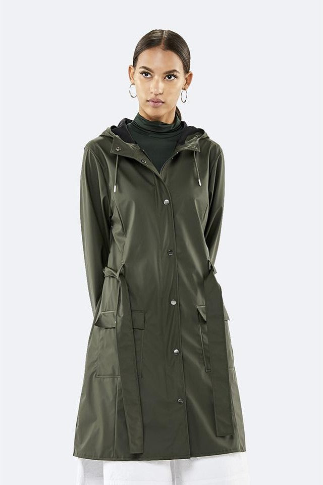 Rains - Curve Jacket Green