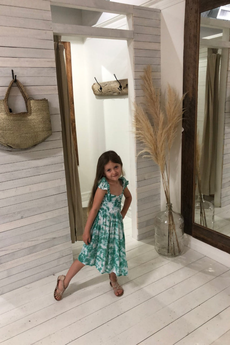 Kids Hollie Dress - Smoke Tosca