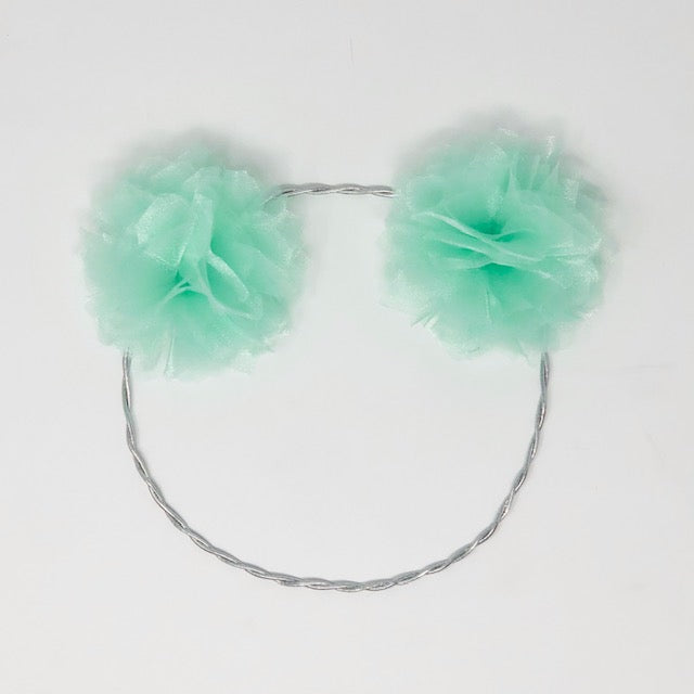 Mint Green Pompom Headband
