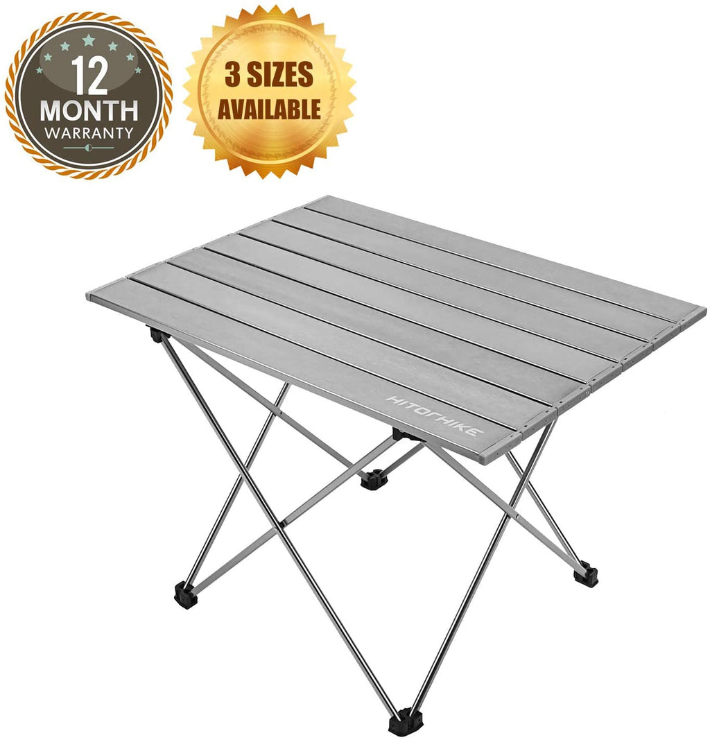 Hitorhike Camping Tables with Aluminum Table Top Ultralight Camp Table with Carry Bag
