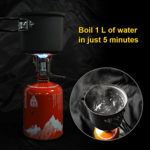 Portable folding outdoor stove cookware gas burners camping stove for hiking picnic BBQ gas stove tank cooker furnace end