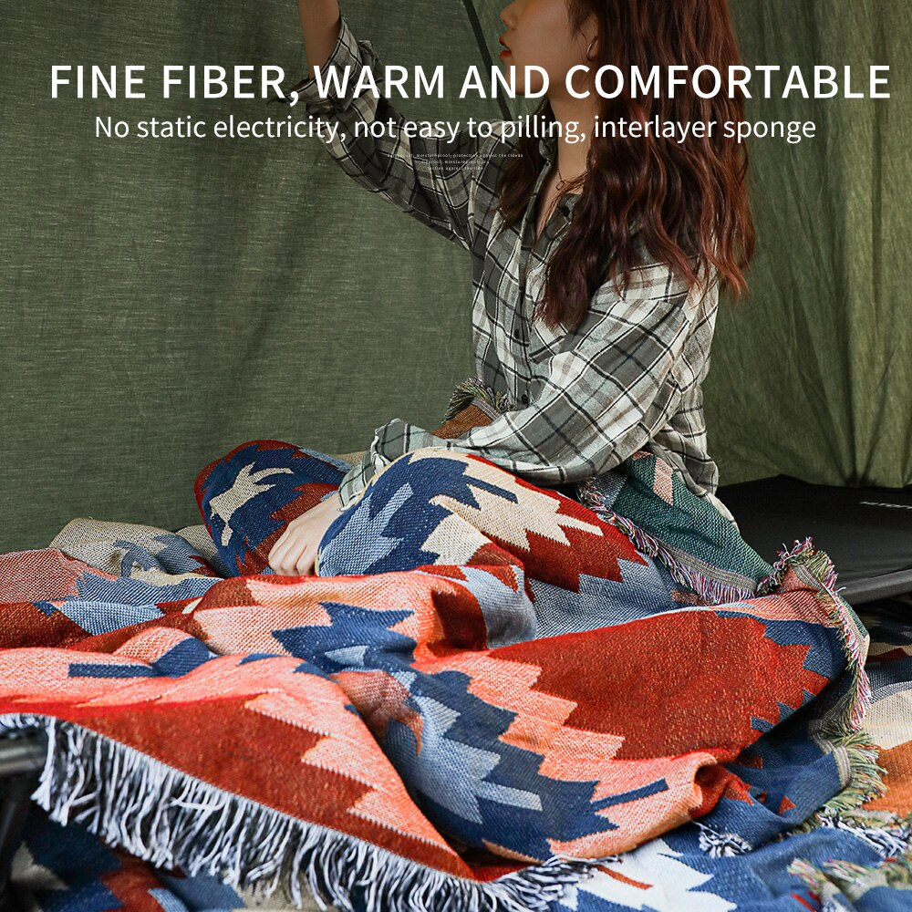 Hitorhike outdoor portable geometric patterns bohemianethnic blankets quilt Towels Cape hiking picnic travel decoration blankets