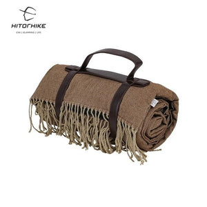 Hitorhike  new arrival outdoor portable waterproof soft tassel blanket camping travel picnic mats