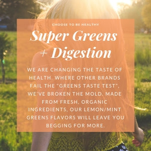 ORGANIC Super Greens + Digestion  (Lemon/Mint - Vegan)  20 Serving
