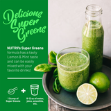 ORGANIC Super Greens + Digestion  (Lemon/Mint - Vegan) 30 Serving