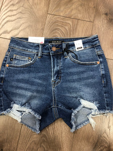 Raw hem judy blue jean shorts #997