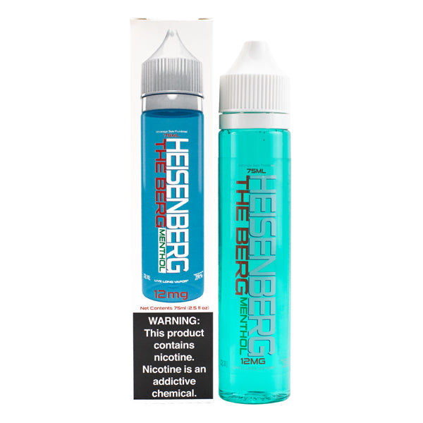 Bottled by innevape labs, shop the low priced Heisenberg Menthol blue raspberry vape juice flavor