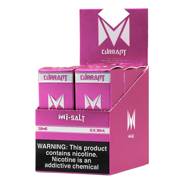 A best-selling fruity pod juice, Currant Mi-Salts is available for wholesale in 20mg & 40mg