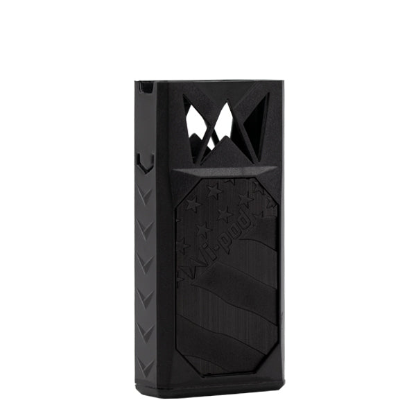 The Black model of the Wi-Pod Vaporizer, an ultra portable vape pen made by Mi-Pod