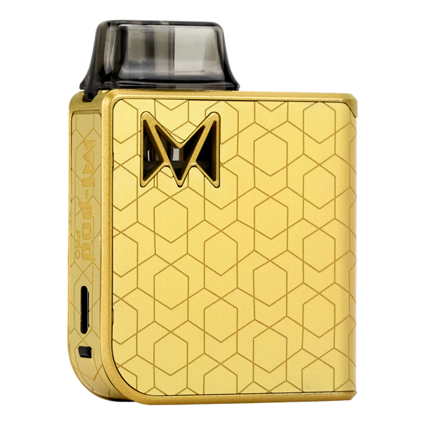 Available here in Gold Alloy, shop wholesale prices on the most luxurious pod system with Mi-Pod PRO