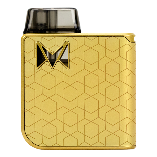 A high-end collection of award winning pod systems for vaping, available for bulk ordering in Gold Alloy