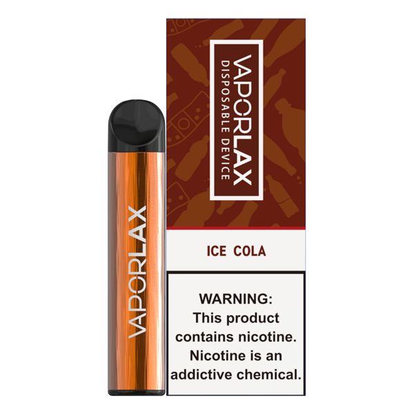 Bulk disposable vape pens from vaporlax, each with 1500 puffs of ice cola flavor