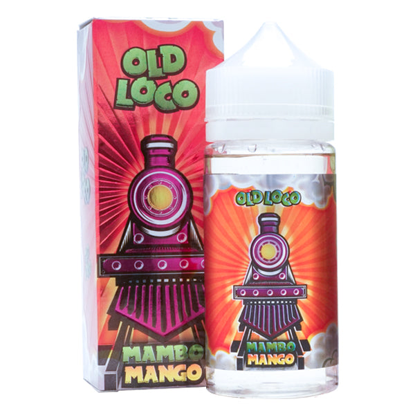 Mango and Lychee flavored vape juice in a 100ml, made by Old Loco e-liquid
