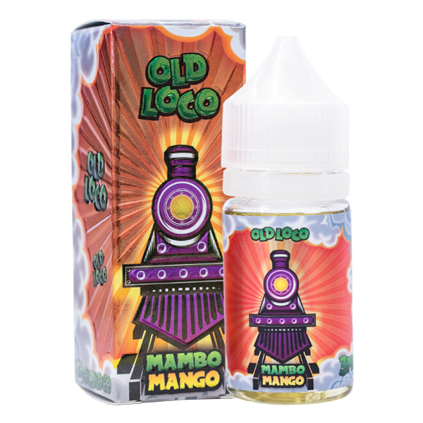 Mango and Lychee flavored vape juice in a 30ml, made by Old Loco e-liquid