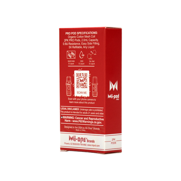 Shop low wholesale prices on Red Colored Pods for the MiPod PRO, made by Mi-One Brands