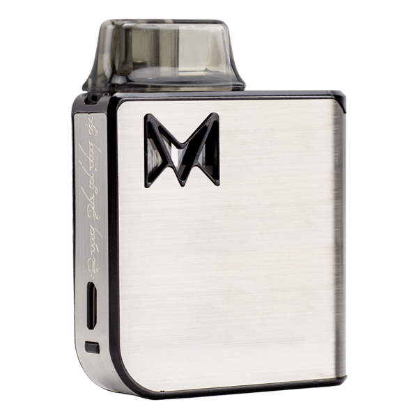 The Silver Metal Mi-Pod PRO, an extremely durable and reliable vaporizer pen for nic salts