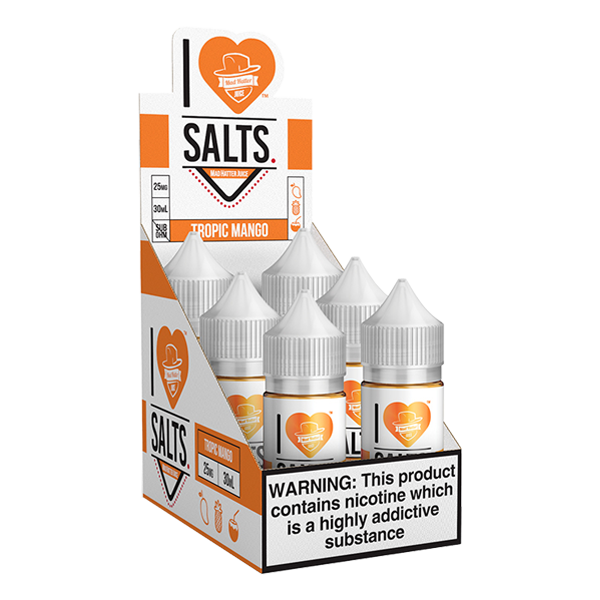 A tropical tasting mango vape juice flavor, shop in bulk for I love salts ejuice online