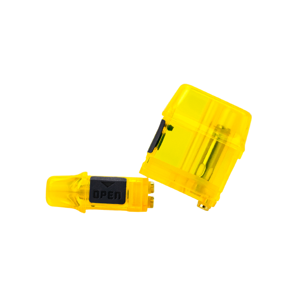 Yellow colored Mi-Pod PRO Pods, available online in packs of 10 for wholesale ordering