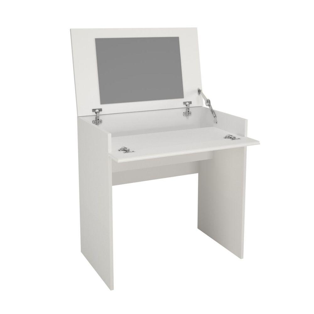 Nasir Vanity with mirror / Writing Desk White