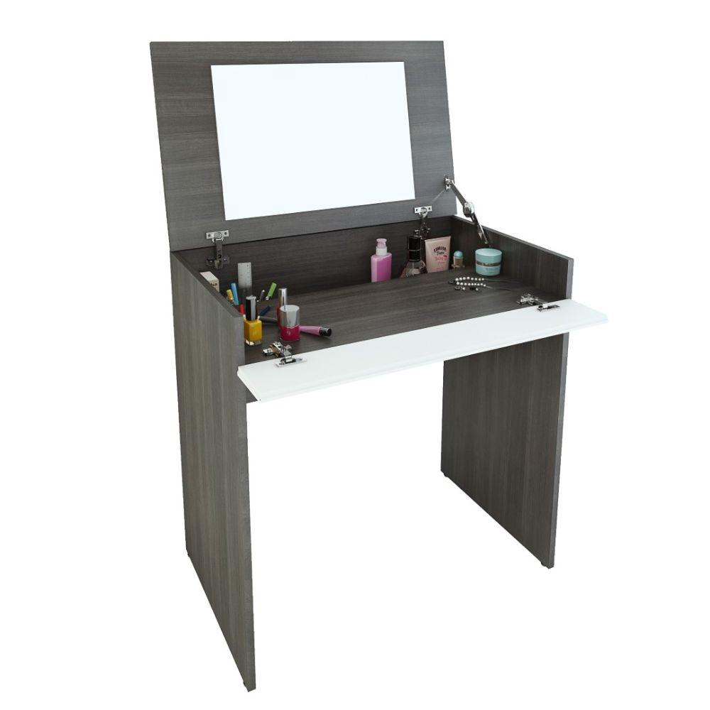 Radomil Vanity with mirror / Writing Desk Ebony and White