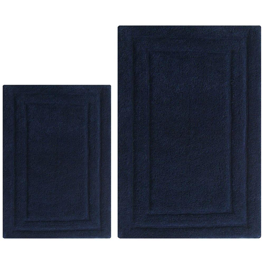 Pablo Classic 2 Pc Bath Rug Set - Navy Blue