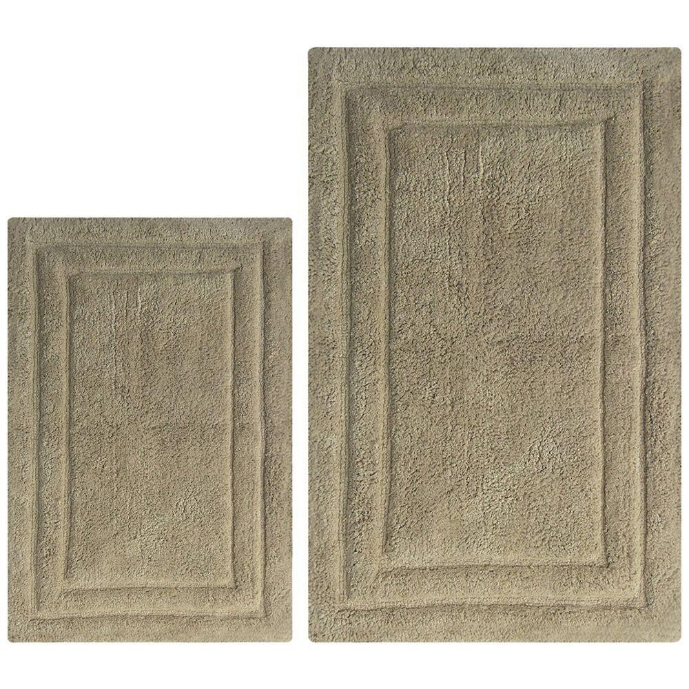 Randy Classic 2 Pc Bath Rug Set - Light Brown