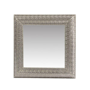 Amelie Sophisticated Silver Metal Mirror Frame
