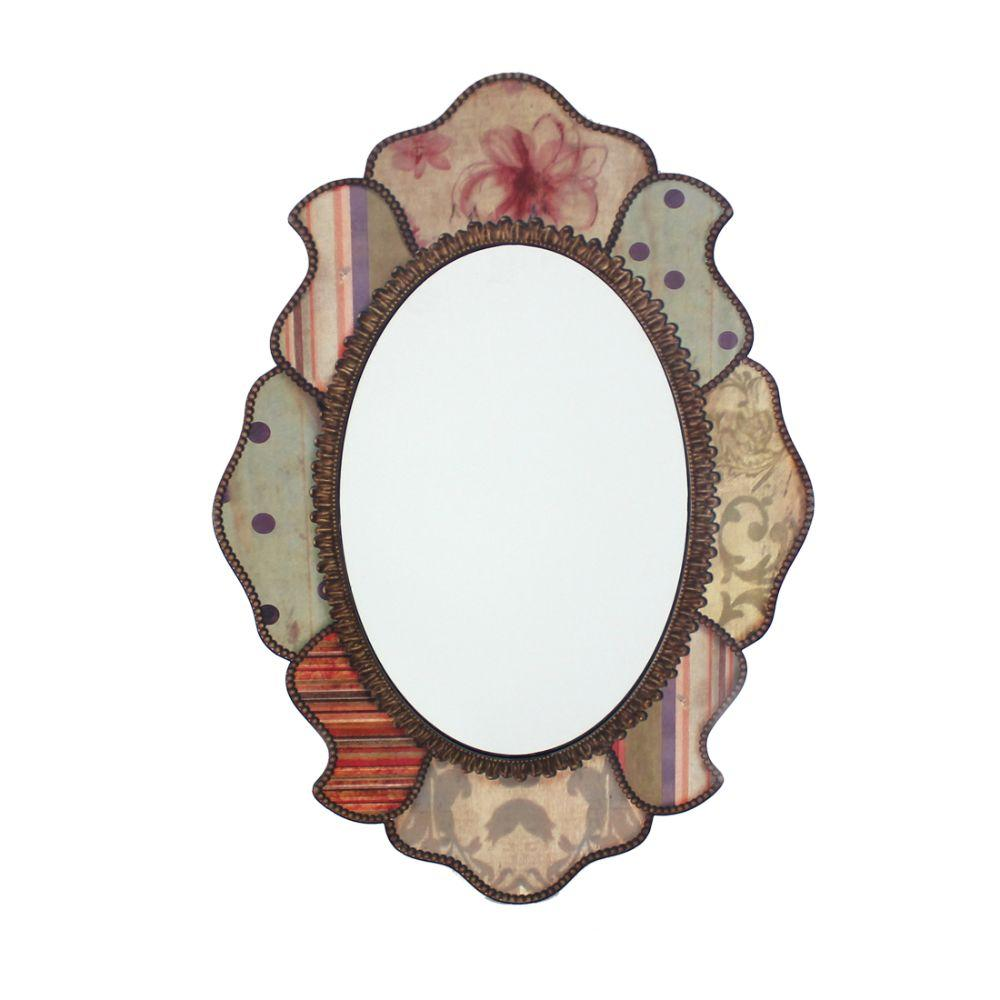 "Molly Multi-Color Retro Style Decorative Wooden Wall Mirror 31.5"" X 0.59"" X 21.65"""