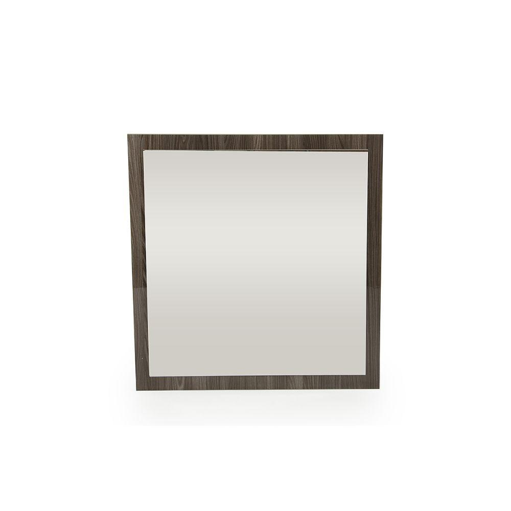 Aliyah Grey MDF, Glass, and Veneer Mirror 41""