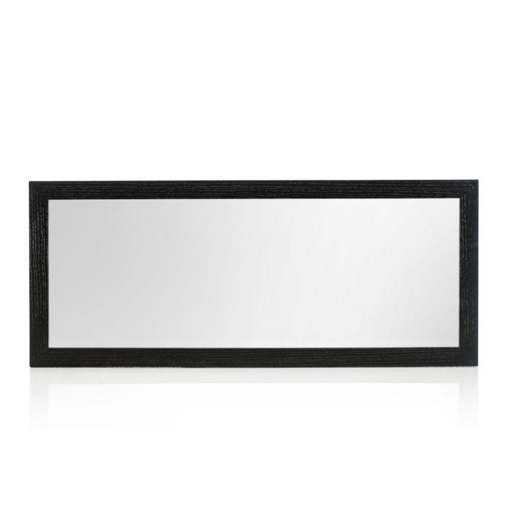 Silver Black MDF and Glass Mirror 20""