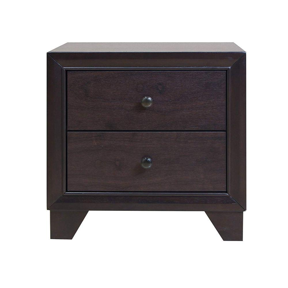 "Ethan Espresso Rubber Wood Nightstand 22"" X 16"" X 22"""