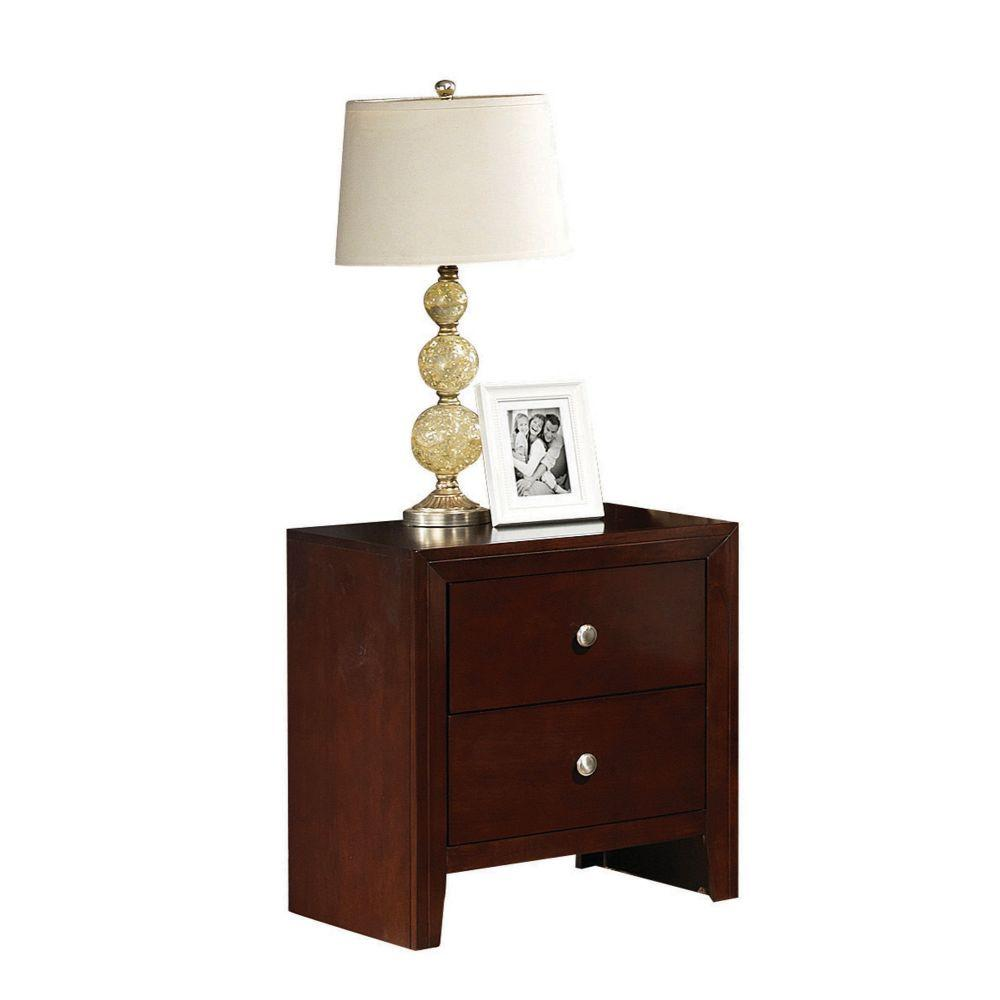 "Aiden Brown Cherry Wooden Nightstand 22"" X 16"" X 24"""