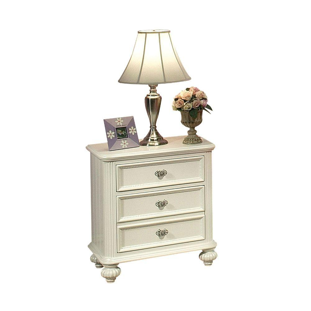"Daniel White Pine Wood Nightstand 22"" X 16"" X 28"""