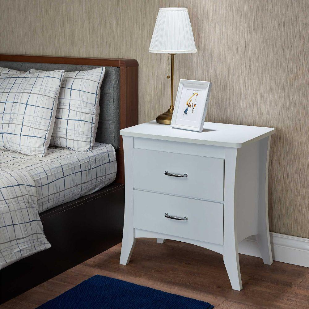 "Dylan White Particle Board Nightstand 24"" X 16"" X 25"""