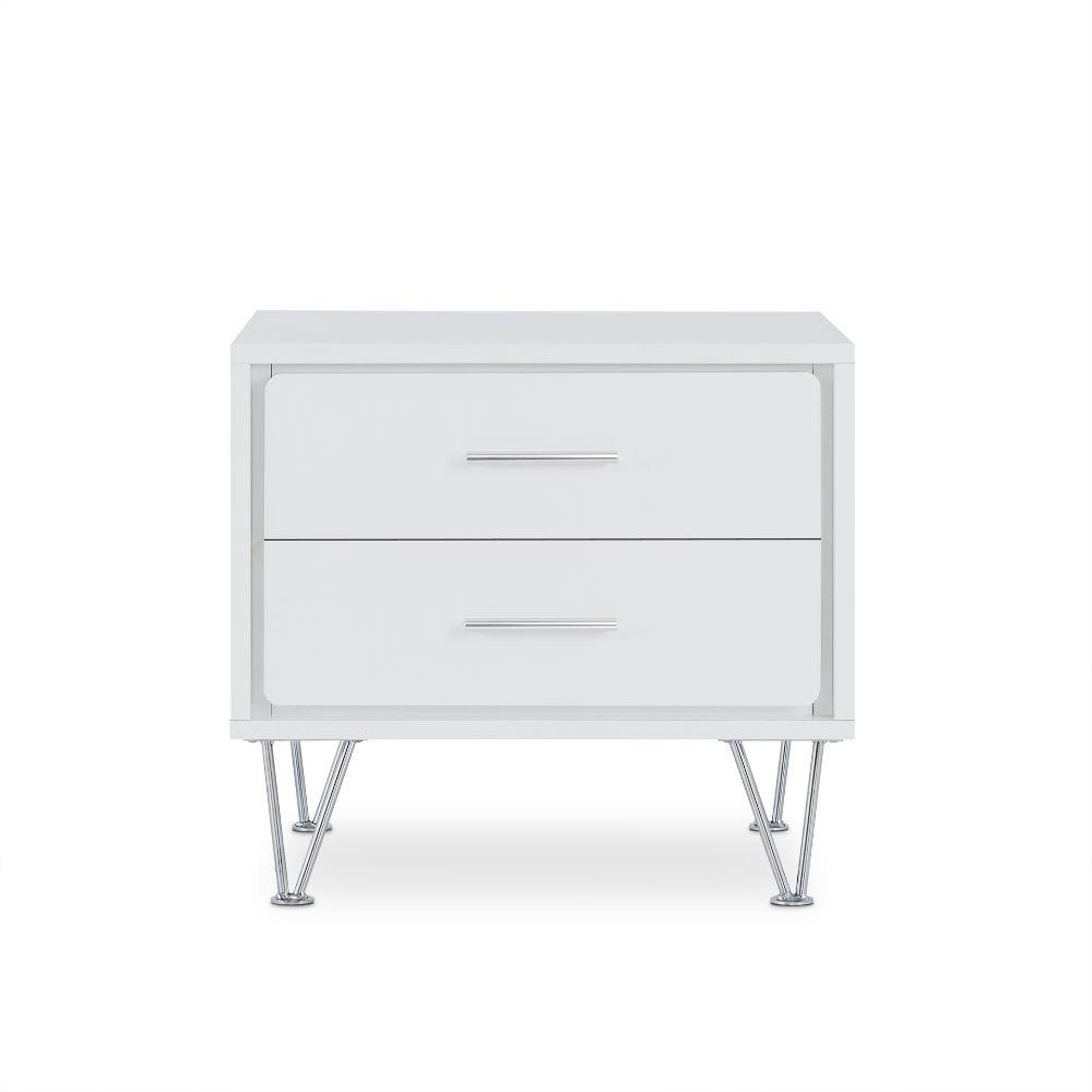 "Ted White Particle Board Nightstand 19.69"" X 15.75"" X 17.93"""