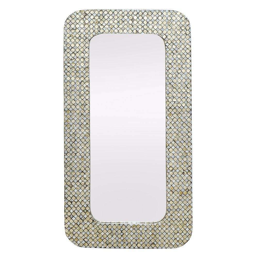 Kenzie Appealing Wooden Wall Mirror With Mop Frame