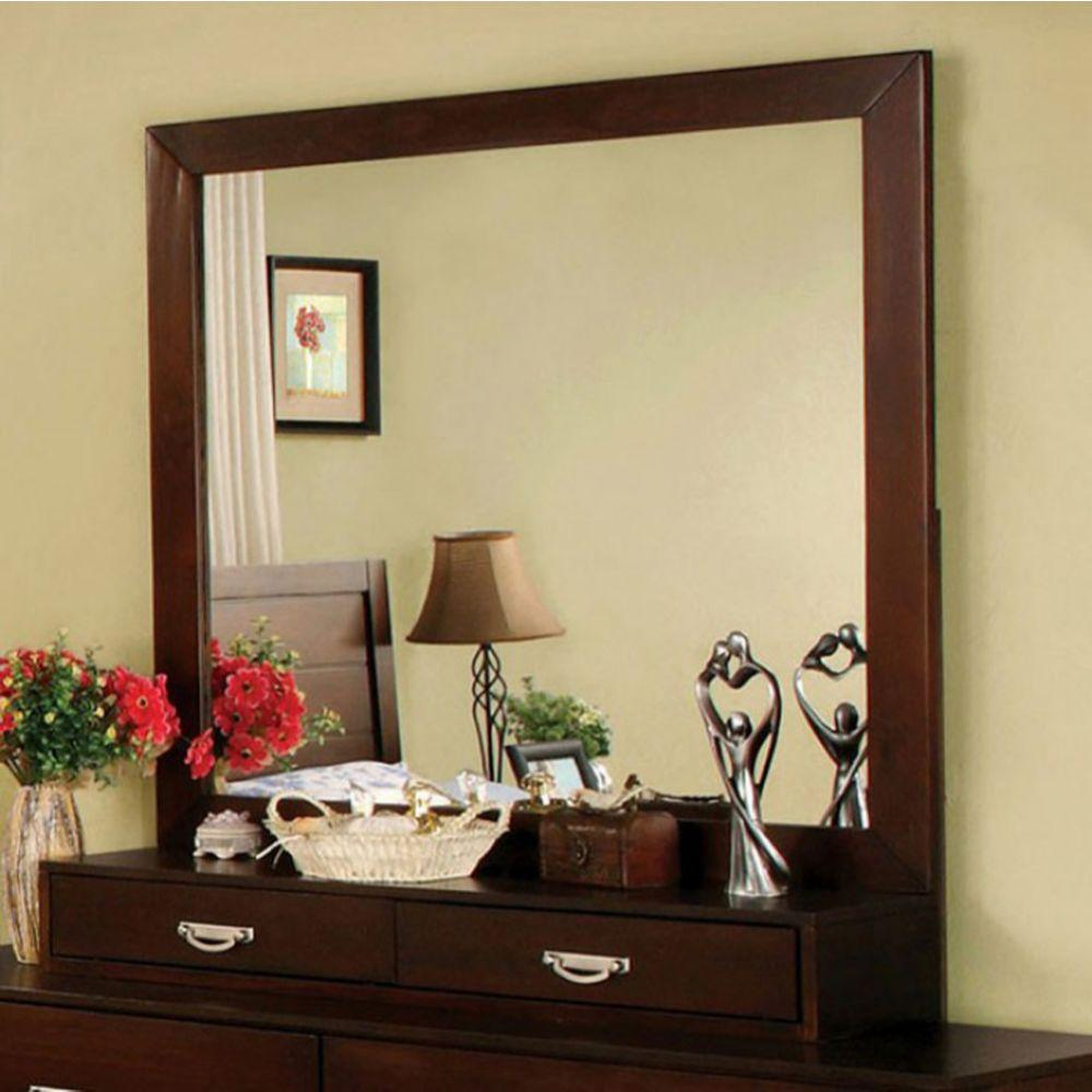Michaela Crystal Lake Transitional Style Mirror