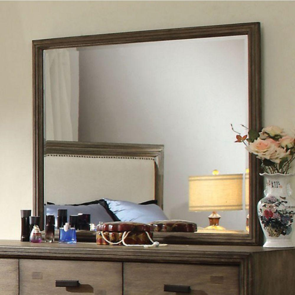 Georgia Antler Transitional Style Mirror In Natural Ash Finish