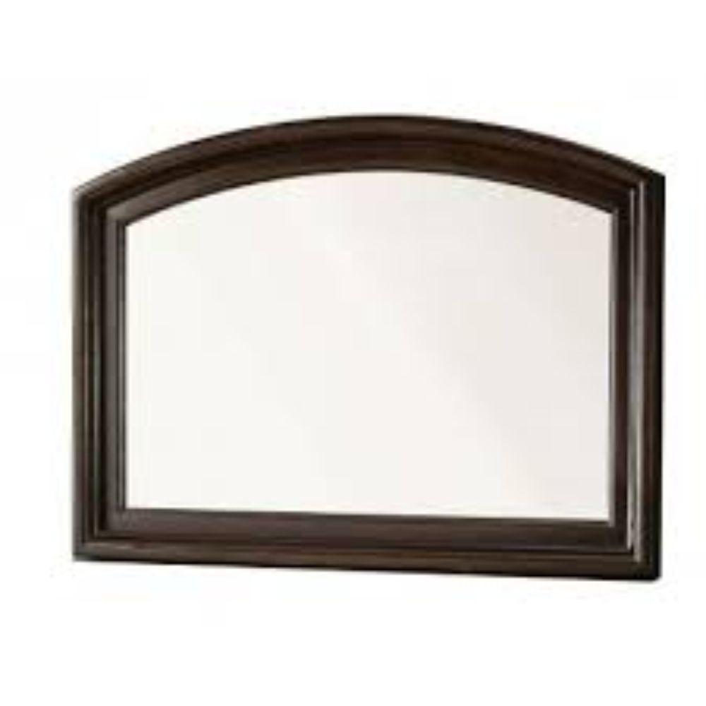 Vivienne Contemporary Style Mirror , Brown Cherry