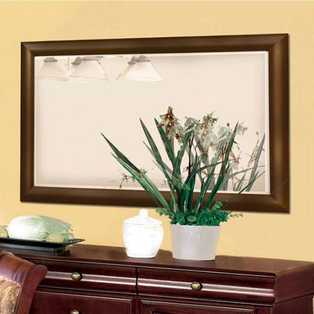 Aaden Transitional Style Mirror, Antique Cherry